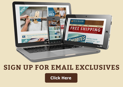 Sign up for Rockler email exclusives & get instant access to free shipping on orders over thrifty five dollars