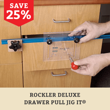 Rockler Deluxe Drawer Pull JIG IT